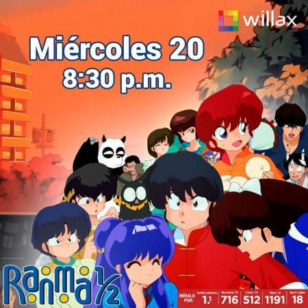 El anime Ranma 1/2 regresa a Willax TV